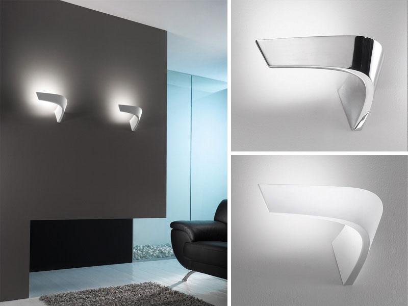 Lampade a parete icone luce il futuro è minimal cignoli