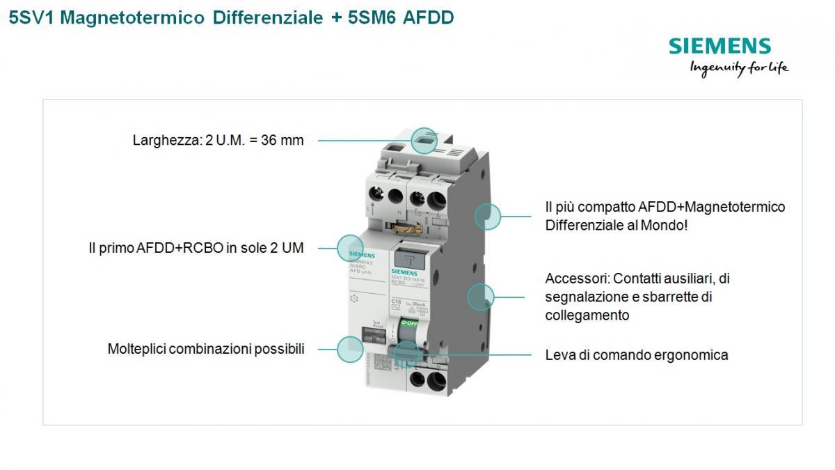 5SV1 Magnetotermico Differenziale 5SM6 AFDD